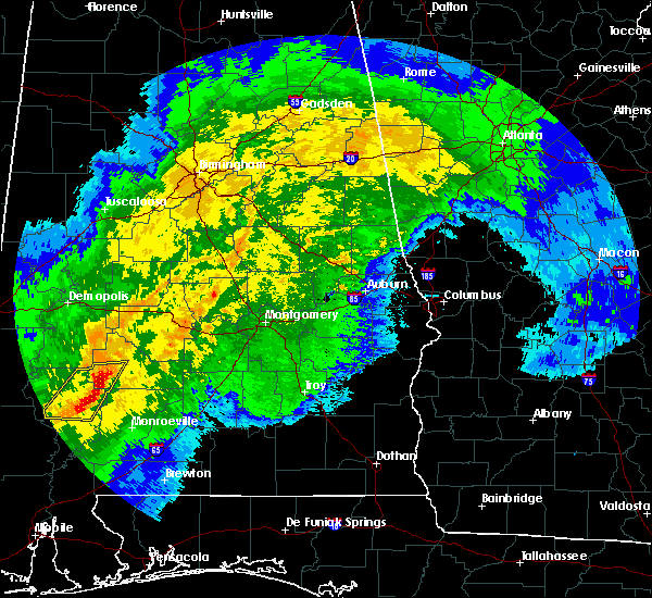 Radar Image for Severe Thunderstorms near Vredenburgh, AL at 4/23/2020 6:00 AM CDT