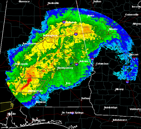 Radar Image for Severe Thunderstorms near Vredenburgh, AL at 4/23/2020 6:14 AM CDT
