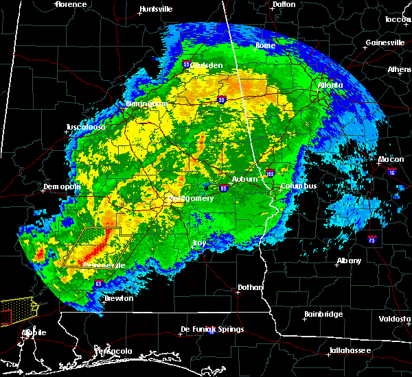 Radar Image for Severe Thunderstorms near Pine Apple, AL at 4/23/2020 6:36 AM CDT