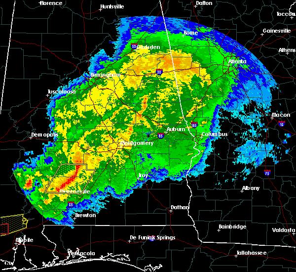 Radar Image for Severe Thunderstorms near Oak Hill, AL at 4/23/2020 6:36 AM CDT