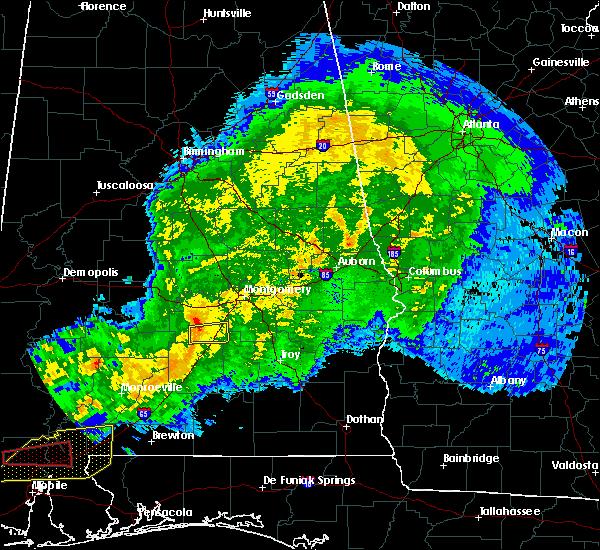 Radar Image for Severe Thunderstorms near Fort Deposit, AL at 4/23/2020 6:55 AM CDT