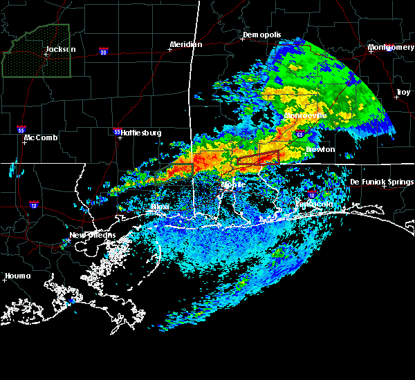 Radar Image for Severe Thunderstorms near Whitfield, FL at 4/23/2020 7:38 AM CDT