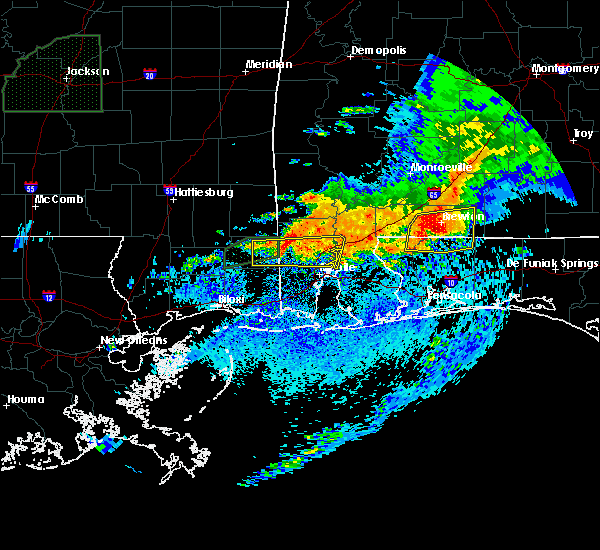 Radar Image for Severe Thunderstorms near Whitfield, FL at 4/23/2020 8:00 AM CDT