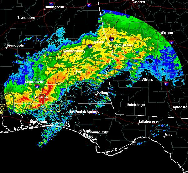 Radar Image for Severe Thunderstorms near Enterprise, AL at 4/23/2020 8:25 AM CDT