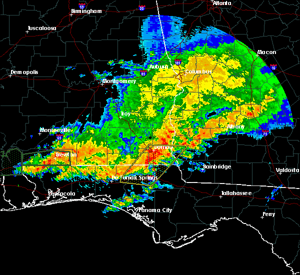 Radar Image for Severe Thunderstorms near Jacob City, FL at 4/23/2020 11:01 AM EDT
