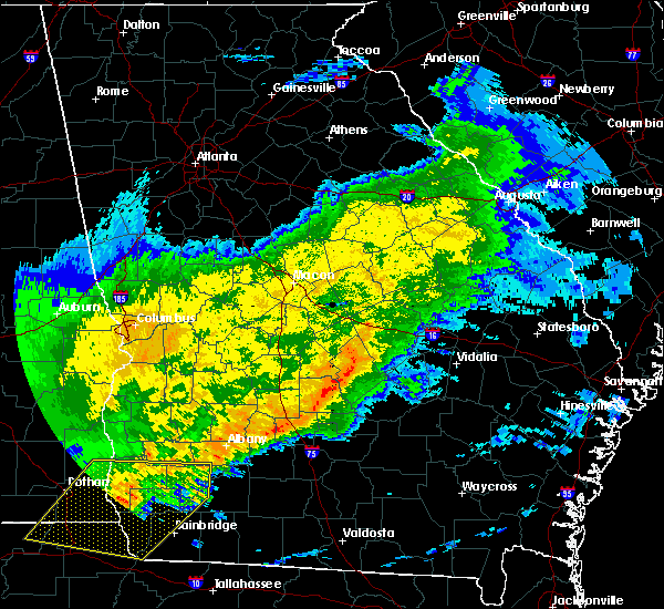 Radar Image for Severe Thunderstorms near Pitts, GA at 4/23/2020 11:21 AM EDT