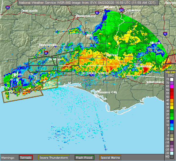 Radar Image for Severe Thunderstorms near Midway, FL at 4/23/2020 12:00 PM CDT