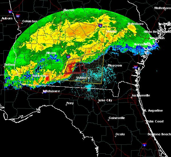 Radar Image for Severe Thunderstorms near Nashville, GA at 4/23/2020 1:13 PM EDT