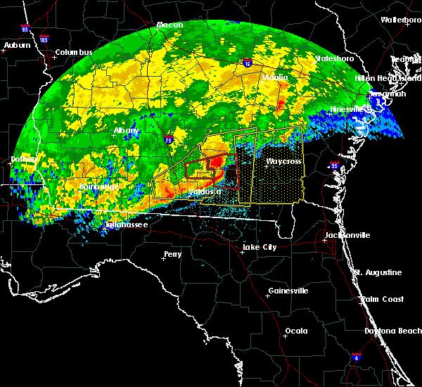 Radar Image for Severe Thunderstorms near Homerville, GA at 4/23/2020 1:44 PM EDT