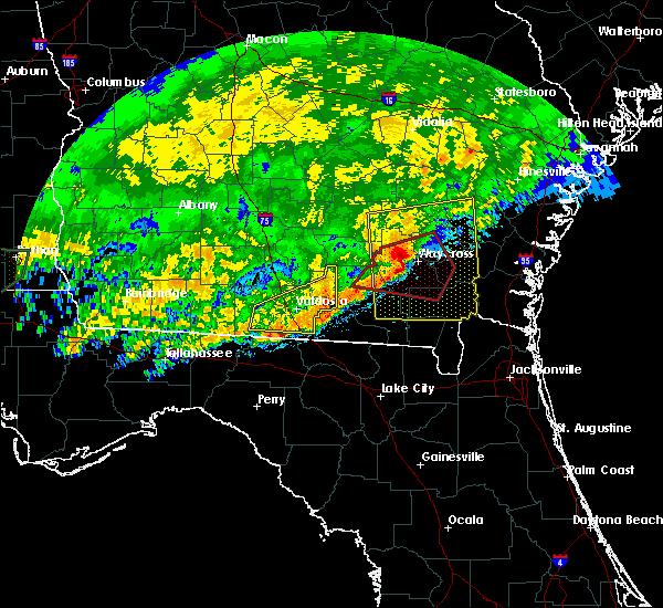 Radar Image for Severe Thunderstorms near Lake Park, GA at 4/23/2020 2:08 PM EDT