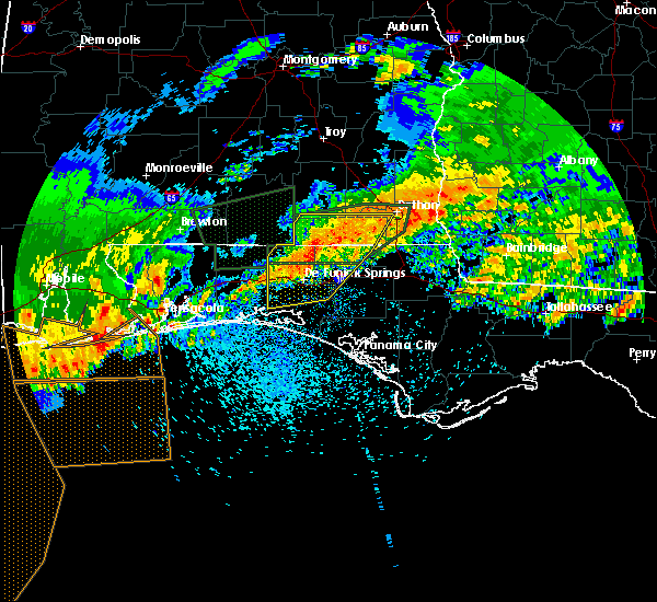 Radar Image for Severe Thunderstorms near Midway, FL at 4/23/2020 1:33 PM CDT