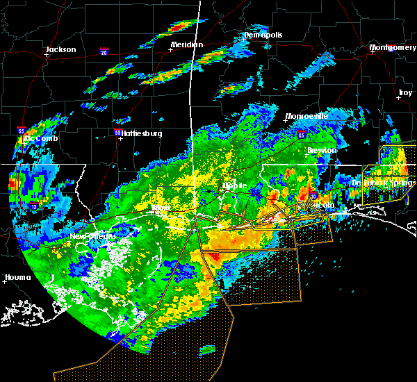 Radar Image for Severe Thunderstorms near Midway, FL at 4/23/2020 1:50 PM CDT