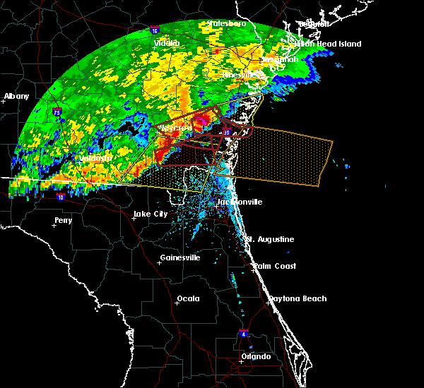 Radar Image for Severe Thunderstorms near Woodbine, GA at 4/23/2020 2:55 PM EDT