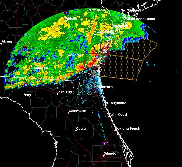 Radar Image for Severe Thunderstorms near St. Simons, GA at 4/23/2020 3:38 PM EDT