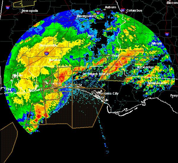 Radar Image for Severe Thunderstorms near Ponce de Leon, FL at 4/23/2020 2:53 PM CDT