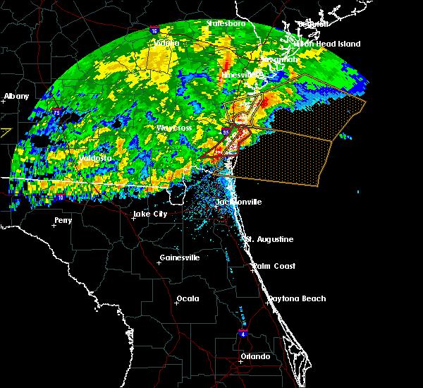 Radar Image for Severe Thunderstorms near St. Simons, GA at 4/23/2020 3:53 PM EDT