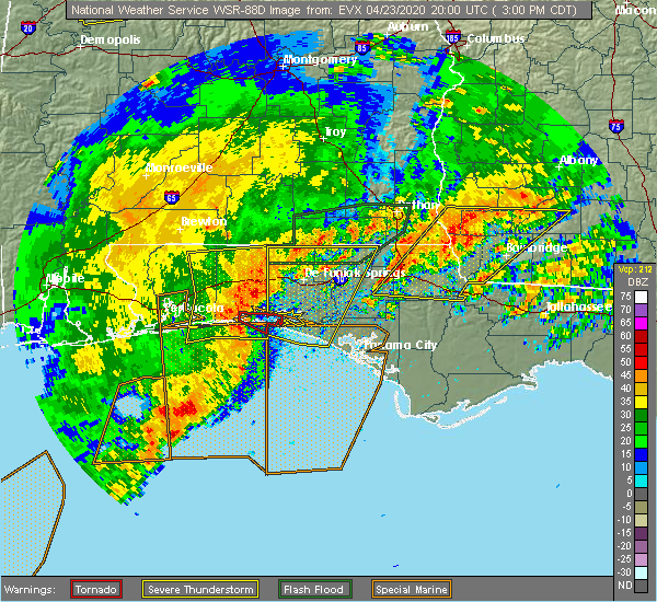 Radar Image for Severe Thunderstorms near Destin, FL at 4/23/2020 3:09 PM CDT