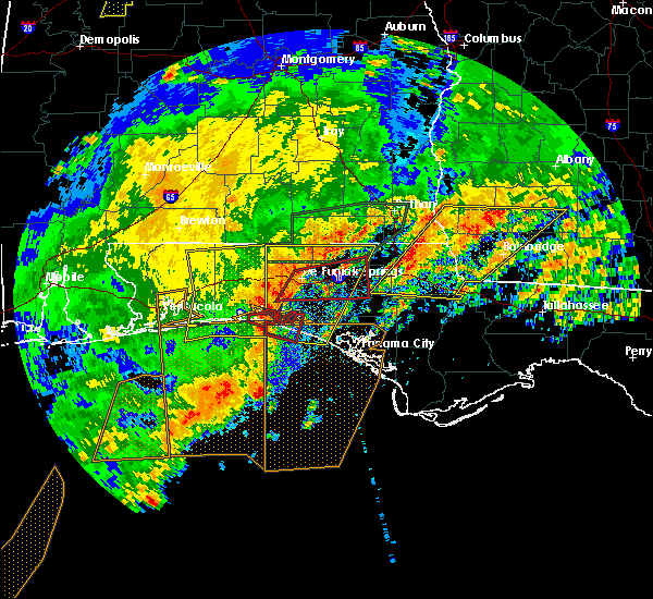 Radar Image for Severe Thunderstorms near Jacob City, FL at 4/23/2020 3:22 PM CDT
