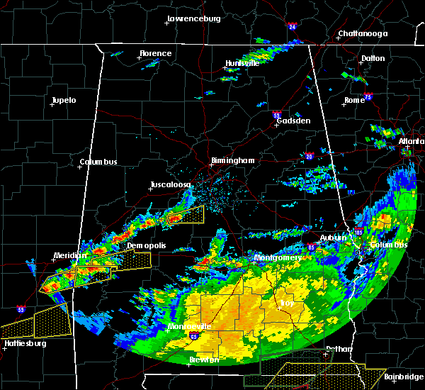 Radar Image for Severe Thunderstorms near Centreville, AL at 4/23/2020 3:42 PM CDT