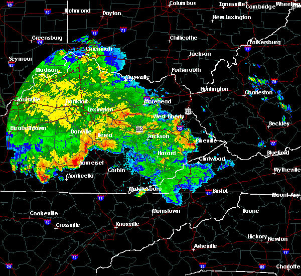 Radar Image for Severe Thunderstorms near Pikeville, KY at 6/26/2015 3:34 AM EDT