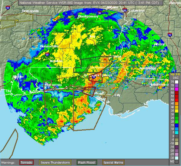 Radar Image for Severe Thunderstorms near Lynn Haven, FL at 4/23/2020 3:48 PM CDT