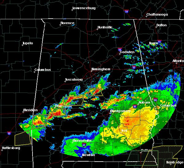 Radar Image for Severe Thunderstorms near Clanton, AL at 4/23/2020 4:30 PM CDT