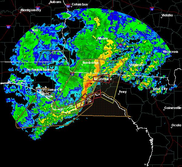 Radar Image for Severe Thunderstorms near St. Marks, FL at 4/23/2020 6:46 PM EDT
