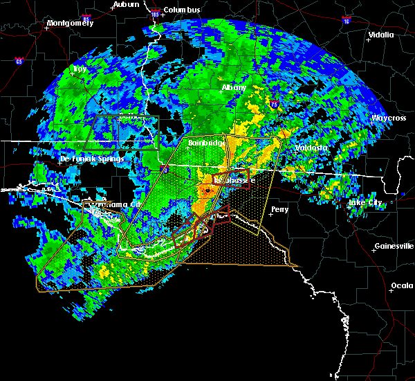 Radar Image for Severe Thunderstorms near Tallahassee, FL at 4/23/2020 6:48 PM EDT