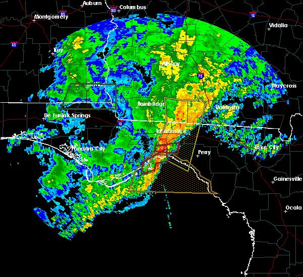 Radar Image for Severe Thunderstorms near St. Marks, FL at 4/23/2020 7:06 PM EDT