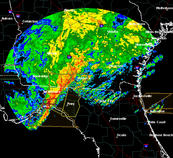 Radar Image for Severe Thunderstorms near Perry, FL at 4/23/2020 7:12 PM EDT
