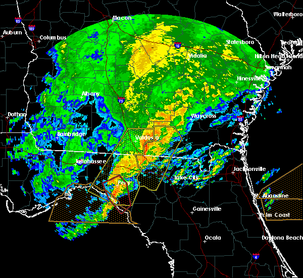 Radar Image for Severe Thunderstorms near Perry, FL at 4/23/2020 8:00 PM EDT