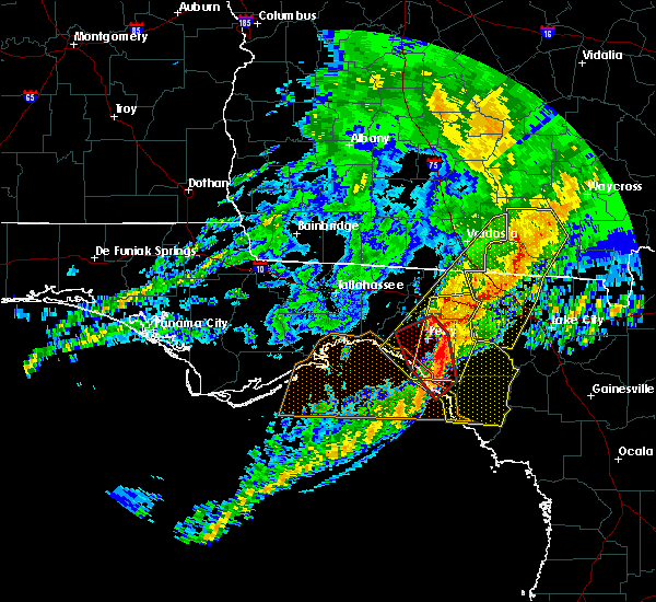 Radar Image for Severe Thunderstorms near Perry, FL at 4/23/2020 8:28 PM EDT
