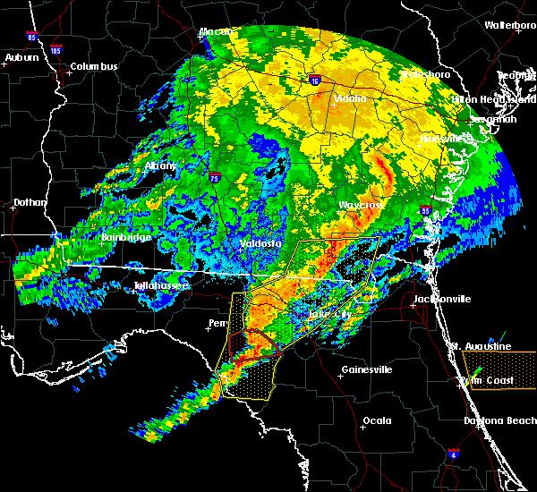Radar Image for Severe Thunderstorms near Cross City, FL at 4/23/2020 8:48 PM EDT