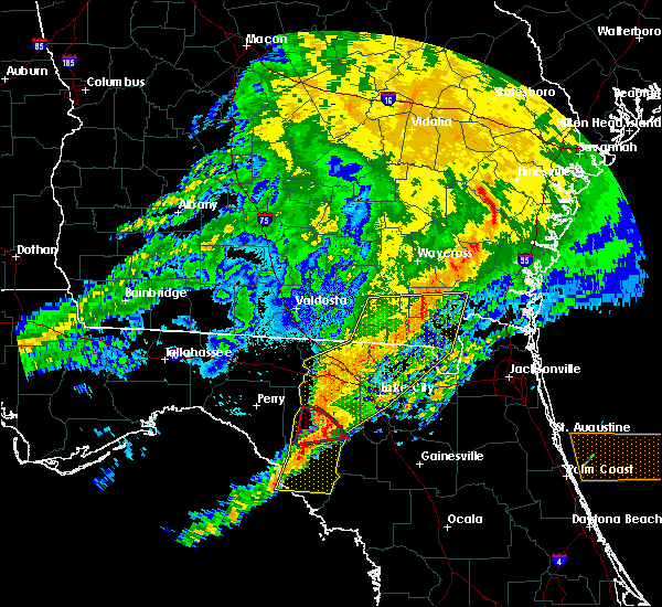 Radar Image for Severe Thunderstorms near Cross City, FL at 4/23/2020 8:54 PM EDT