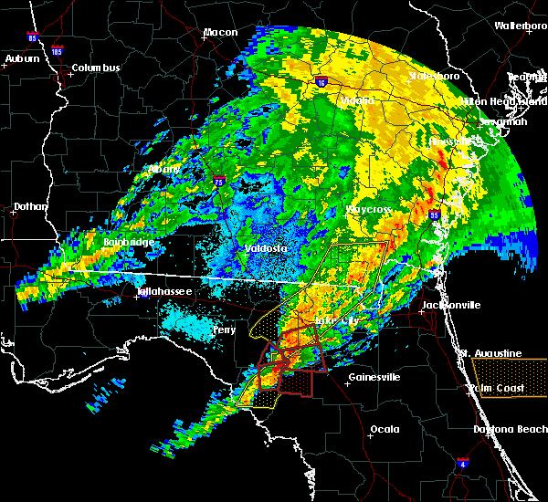 Radar Image for Severe Thunderstorms near Lake City, FL at 4/23/2020 9:12 PM EDT