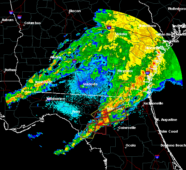 Radar Image for Severe Thunderstorms near Cross City, FL at 4/23/2020 9:27 PM EDT