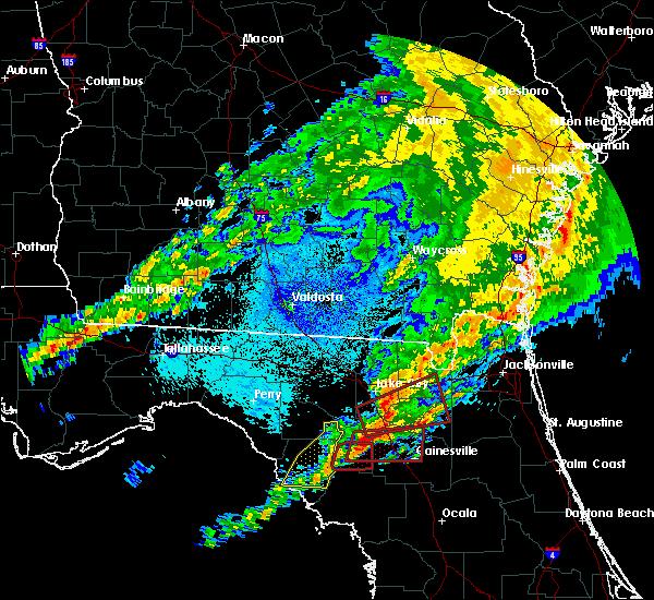Radar Image for Severe Thunderstorms near Cross City, FL at 4/23/2020 9:43 PM EDT