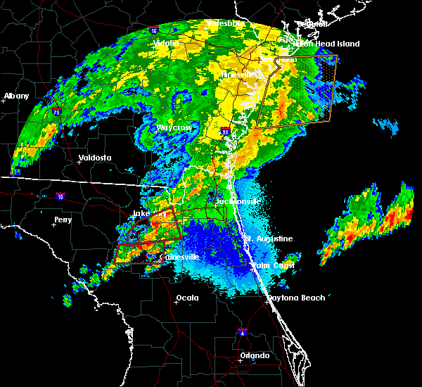 Radar Image for Severe Thunderstorms near Gainesville, FL at 4/23/2020 10:00 PM EDT