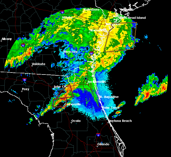 Radar Image for Severe Thunderstorms near Raiford, FL at 4/23/2020 10:14 PM EDT