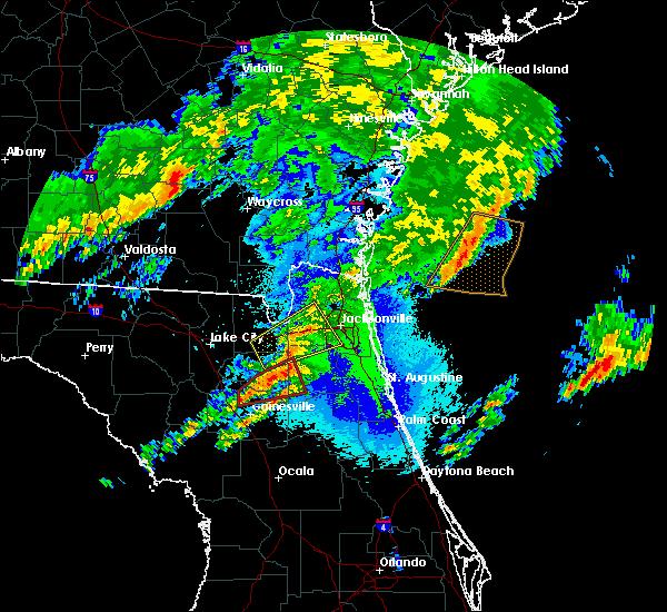 Radar Image for Severe Thunderstorms near Orange Park, FL at 4/23/2020 10:33 PM EDT