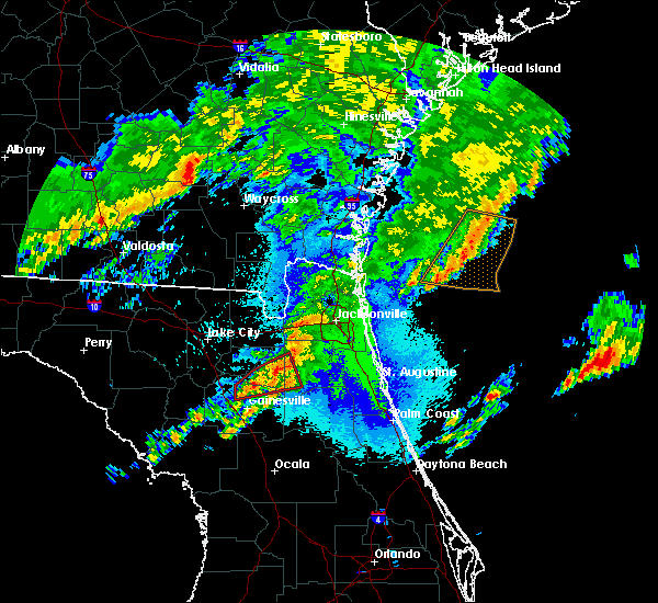 Radar Image for Severe Thunderstorms near Gainesville, FL at 4/23/2020 10:42 PM EDT