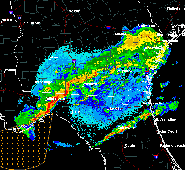 Radar Image for Severe Thunderstorms near Morven, GA at 4/24/2020 12:01 AM EDT