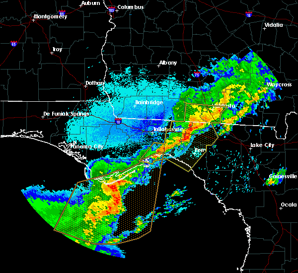 Radar Image for Severe Thunderstorms near Perry, FL at 4/24/2020 12:35 AM EDT