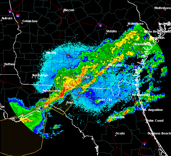 Radar Image for Severe Thunderstorms near Perry, FL at 4/24/2020 12:48 AM EDT