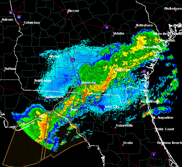 Radar Image for Severe Thunderstorms near Perry, FL at 4/24/2020 1:08 AM EDT