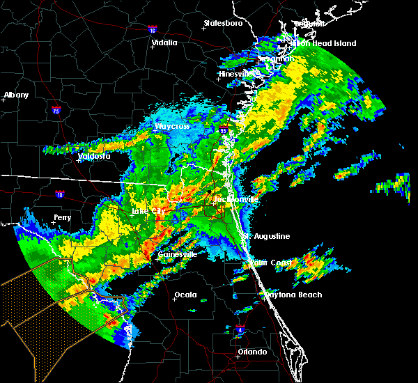 Radar Image for Severe Thunderstorms near Gainesville, FL at 4/24/2020 3:16 AM EDT