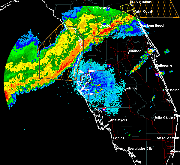 Radar Image for Severe Thunderstorms near Sugarmill Woods, FL at 4/24/2020 5:02 AM EDT