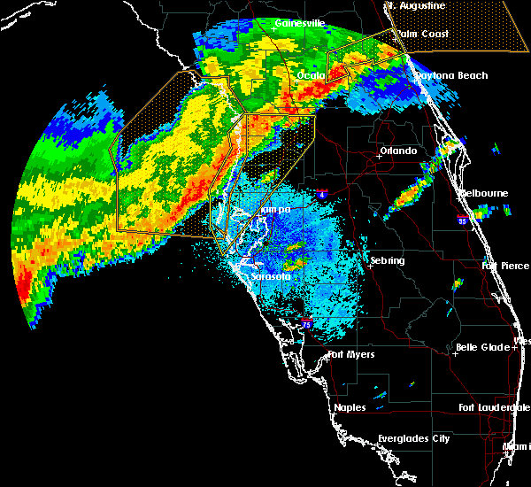 Radar Image for Severe Thunderstorms near Jasmine Estates, FL at 4/24/2020 5:08 AM EDT