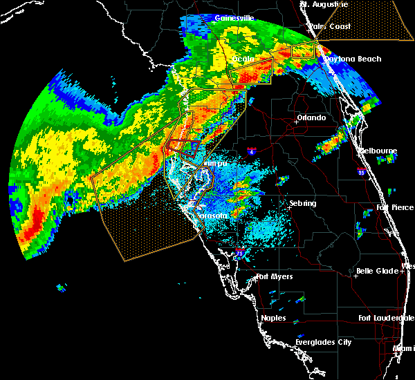 Radar Image for Severe Thunderstorms near Brooksville, FL at 4/24/2020 5:28 AM EDT