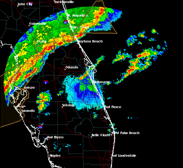 Radar Image for Severe Thunderstorms near Orange City, FL at 4/24/2020 5:38 AM EDT